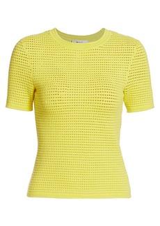 Milly Mesh Knit T-Shirt
