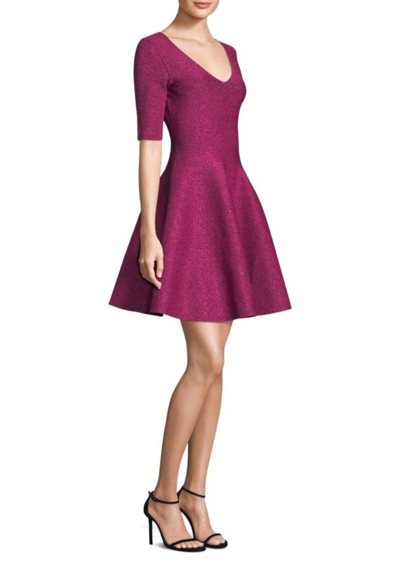 Milly Metallic Fit-and-Flare Dress