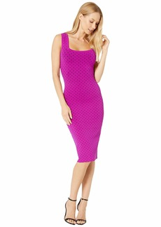 Milly Micro Dot Fitted Dress