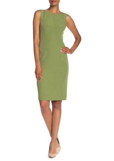 Milly Mika Boatneck Sleeveless Sheath Dress