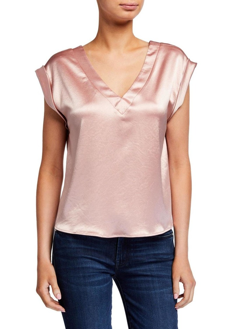 Milly Mila Reversible Hammered Satin Top