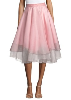 Milly A-Line Pleated Skirt