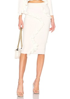 MILLY Abstract Ruffle Skirt