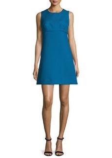 Milly Sleeveless Sweetheart-Illusion Twill Mini Dress