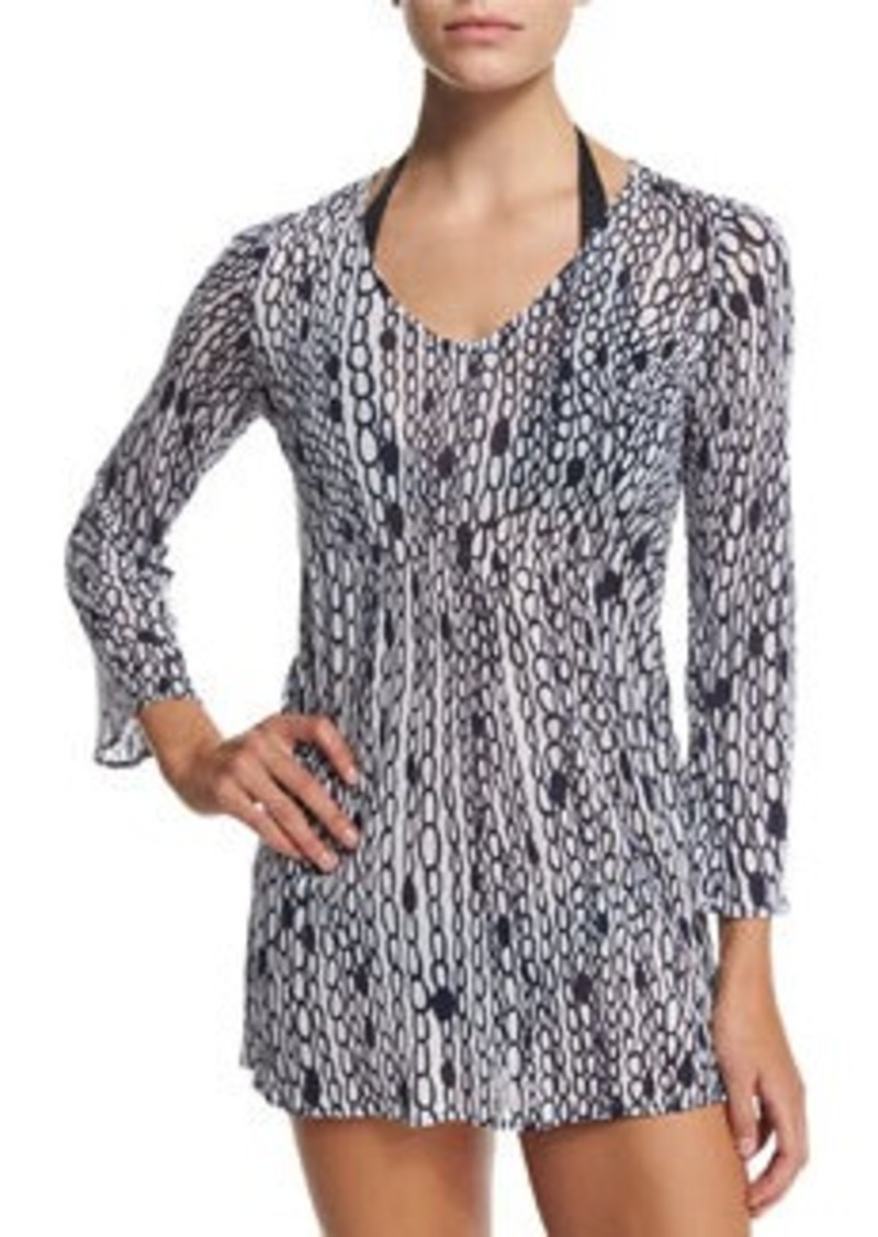 Milly Buzios Chain-Print Tunic Coverup