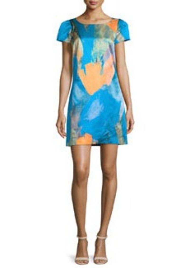 Milly Chloe Watercolor Sateen Dress