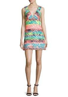 Milly Bridgette Sleeveless V-Neck Mini Dress