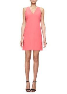 Milly Sleeveless Modern V-Neck Sheath Dress