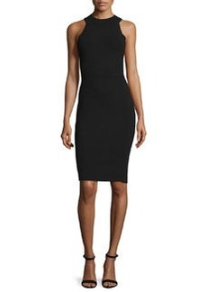 Milly Sleeveless Halter-Neck Structured Sheath Dress