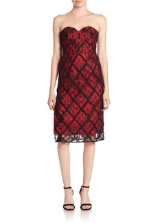 MILLY Alex Embroidered Lace Dress