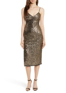 Milly Alexis Sequin Camisole Dress