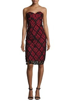 Milly Alix Embroidered Strapless Sweetheart Dress