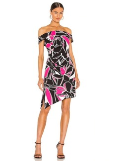 MILLY Ally Stencil Floral Dress