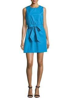 Milly Ana Sleeveless Stretch-Poplin Dress