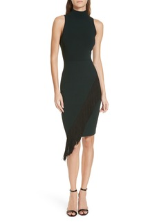 Milly Angled Fringe Body-Con Dress