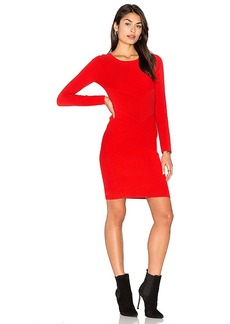 MILLY Angled Ottoman Sheath Dress in Red. - size M (also in S,XS)