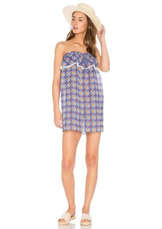 MILLY Anguilla Ruffled Strapless Dress
