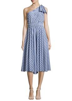 Milly Anna Striped A-Line Dress