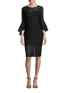 MILLY Anya Floral Embroidered Dress