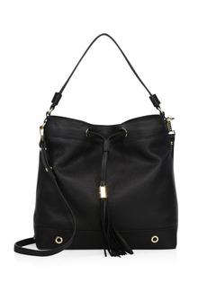 Milly Astor Leather Drawstring Hobo Bag