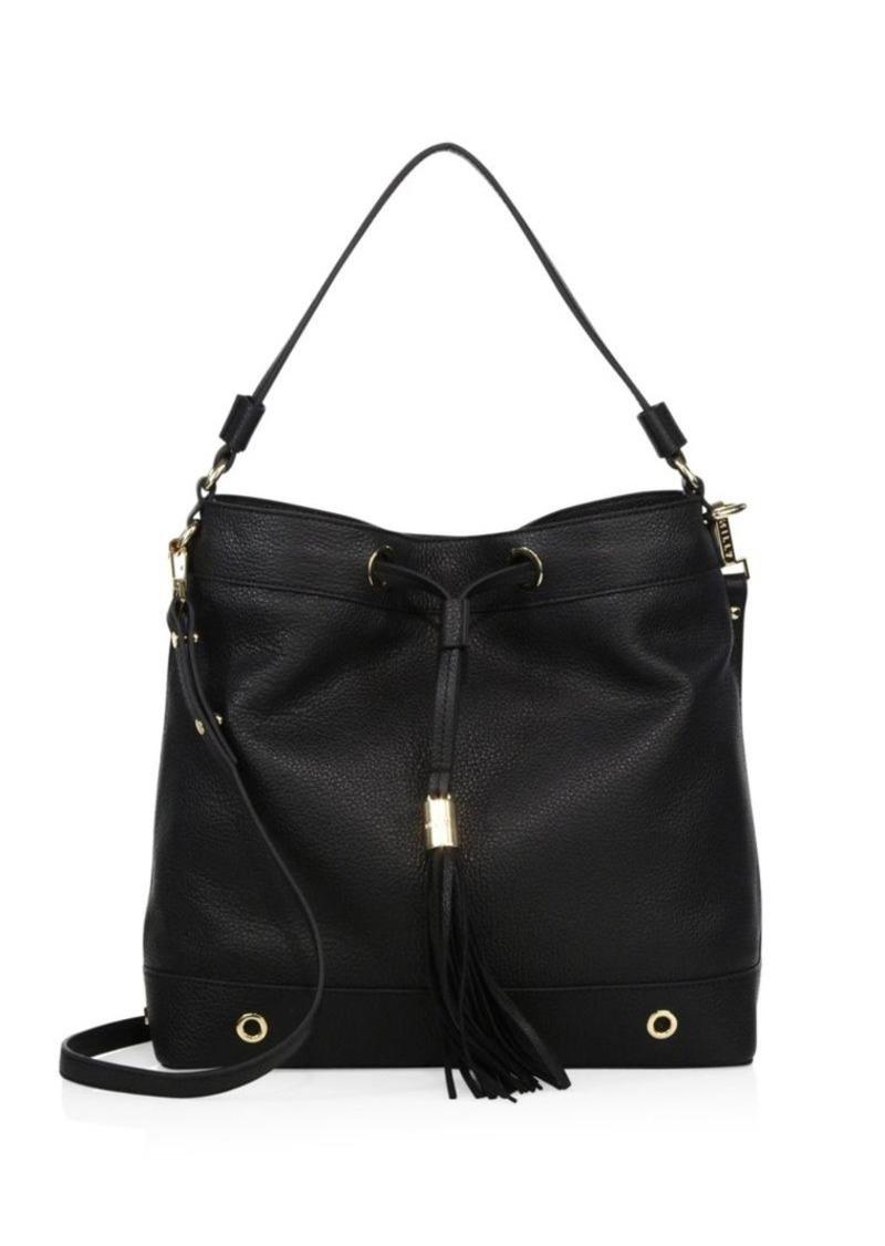 b44f320d8e05 Astor Leather Drawstring Hobo Bag