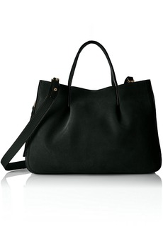 MILLY Astor Suede Pinched Tote black