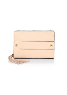 Milly Astor Tassel Pebble Leather Clutch