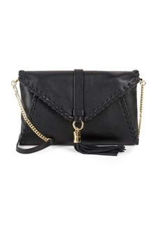 MILLY Astor Whipstitch Leather Crossbody