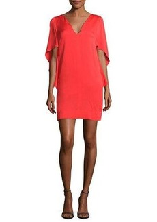 Milly Beetle Stretch-Silk Slim Minidress