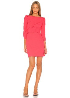 MILLY Belted Clare Puff Sleeve Dress