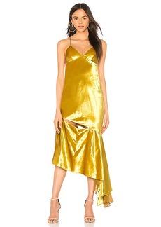 MILLY Bias Slip Dress in Mustard. - size 0 (also in 2,4,6,8)