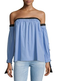 af0ac1e1013318 Milly MILLY Rosa Striped Off-The-Shoulder Top