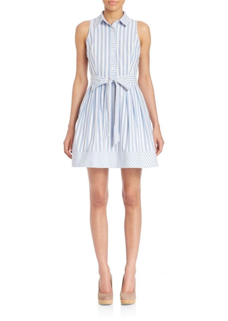 MILLY Breton Striped Shirt Dress
