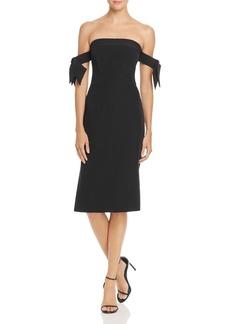 MILLY Brit Off-the-Shoulder Dress