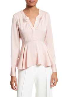 Milly Brooke Stretch Silk Blouse