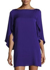Milly Butterfly-Sleeve Crepe Shift Dress