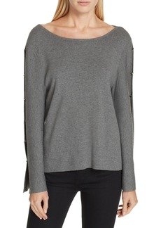 Milly Button Sleeve Sweater