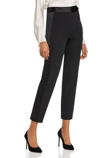 MILLY Cady Tuxedo Stripe Skinny Ankle Pants