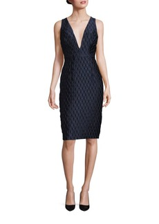 MILLY Callie Bubble Jacquard Dress