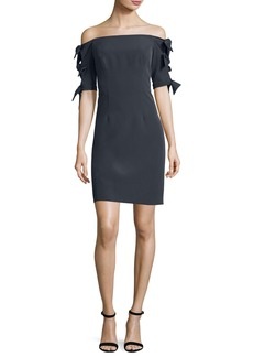 Milly Caroline Off-the-Shoulder Italian Cady Minidress
