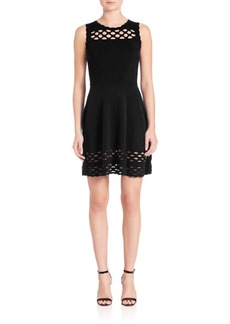 MILLY Chain Link Fit & Flare Dress
