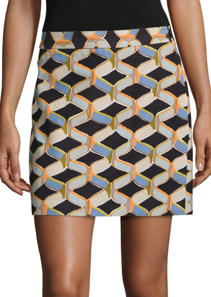 MILLY Chain Printed Mini Skirt