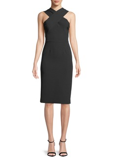 Milly Charlie Open-Back Sheath Dress