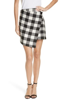 Milly Check Wrap Skirt