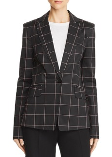 MILLY Checked Tailored Blazer