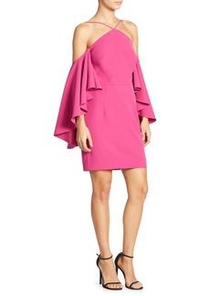 MILLY Chelsea Cold-Shoulder Dress