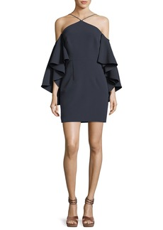 Milly Chelsea Stretch Crepe Cocktail Dress