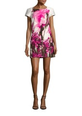 MILLY Chloe Floral Printed Fitted Dress
