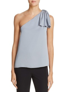 MILLY Cindy One-Shoulder Top