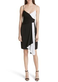 Milly Cindy Two-Tone Stretch Silk Dress